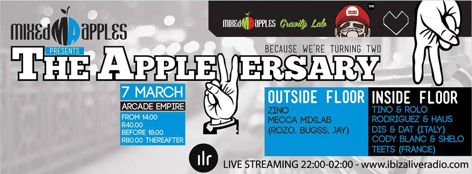 Mixed Apples Present Appleversary 2.0 feat. Dis&Dat at Arcade Empire