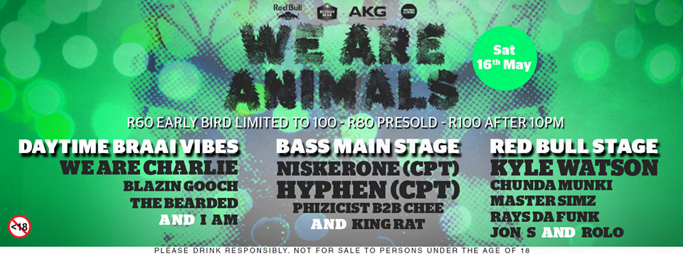 We Are Animals Presents Niskerone, Kyle Watson, Hyphen, Ghunda Munki, We Are Charlie and more at Arcade Empire