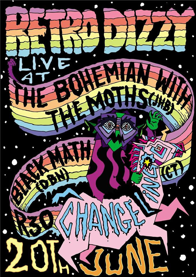 Retro Dizzy, The Moths, Black Math at Changeling at The Bohemian