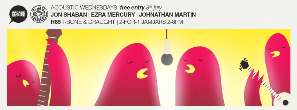 Arcade Acoustic Wednesday feat. Jon Shaban, Jonathan Martin & Ezra Mercury at Arcade Empire