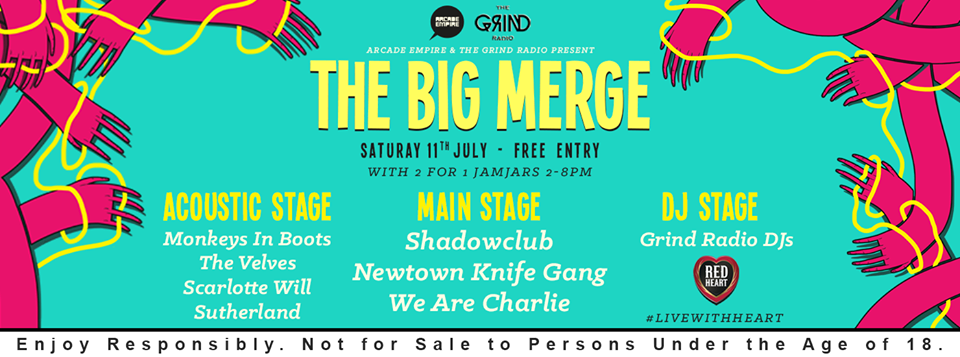 Red Heart Rum presents Free Party feat. Shadowclub, Newtown Knife Gang, We Are Charlie, The Verves and more at Arcade Empire