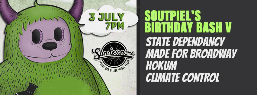 Soutpiel's Birthday Bash 5 at Sundowners