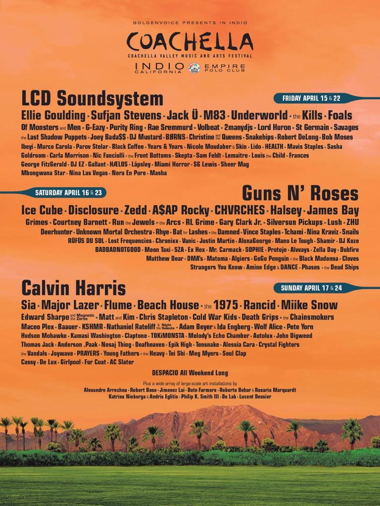 Coachelle 2016 lineup