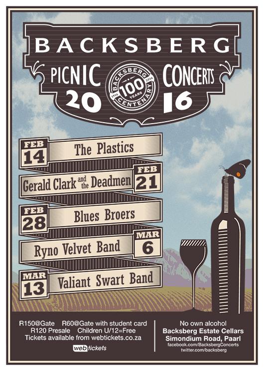 Backsberg Picnic Concerts 2016 - Poster